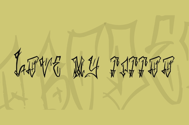 messy cursive tattoo font