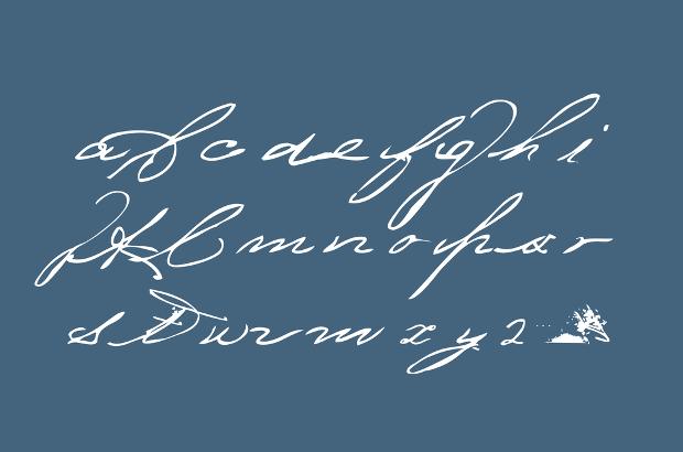 messy handwritten cursive font