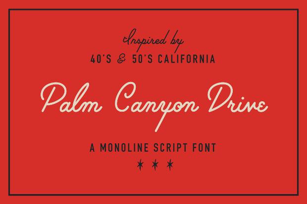 Mid Century Modern Cursive Font