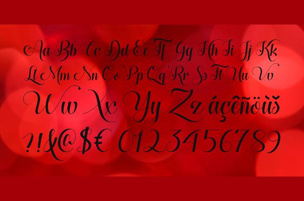 Cursive Fonts for Wedding Cards