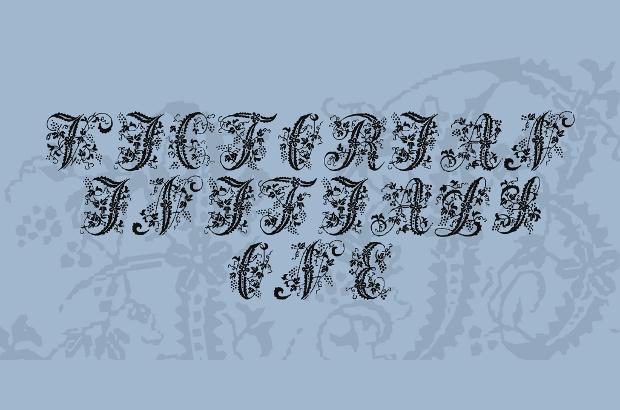 Victorian Cursive Handwriting Font