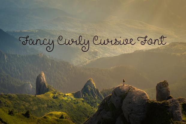fancy curly cursive font