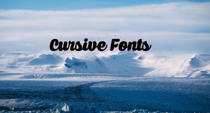 30+ Cursive Fonts - TTF, OTF Format | Design Trends - Premium PSD
