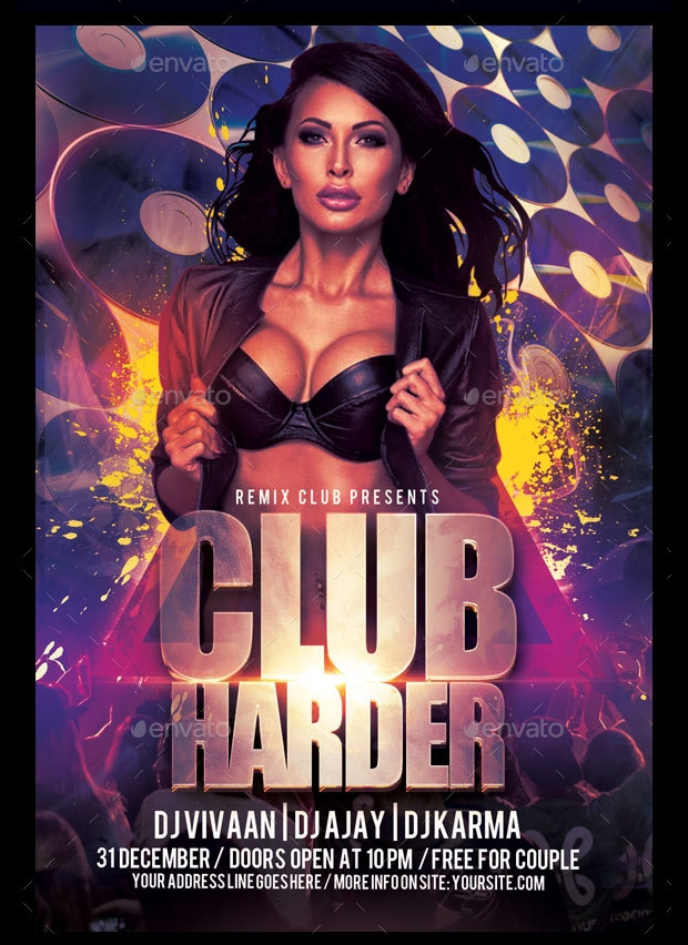 Club Flyer Templates  Printable Psd Ai Vector Eps Format