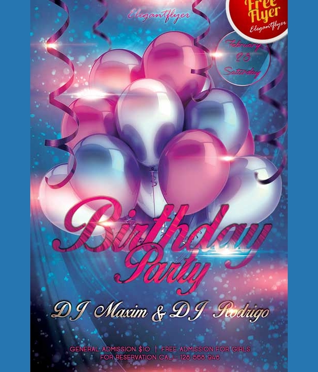 Birthday Club Flyer