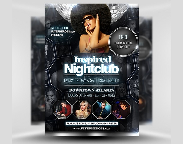 Inspired Night Club Flyer