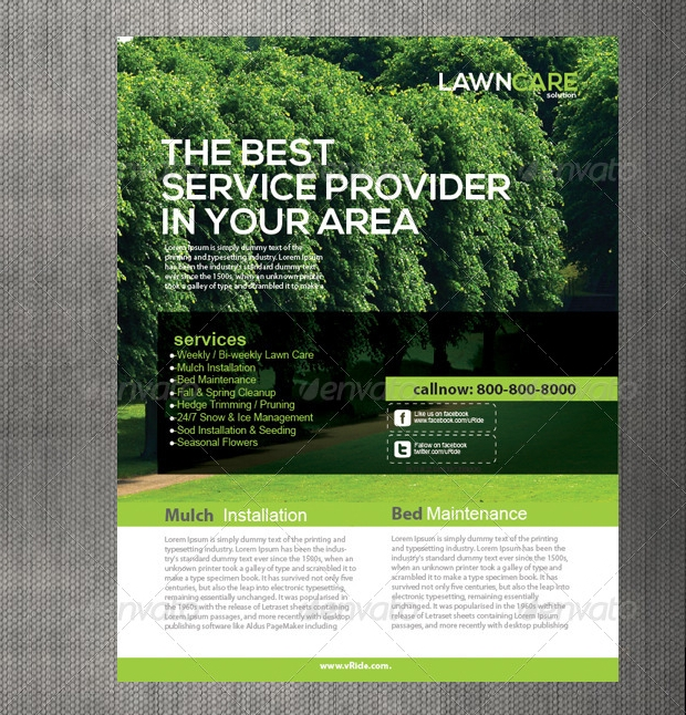 15+ Lawn Care Flyer Templates - Printable PSD, AI, Vector ...
