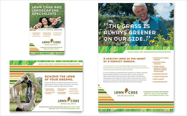15 lawn care flyer templates printable psd ai vector for Landscaping flyers templates