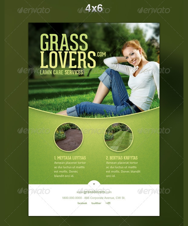 15 lawn care flyer templates printable psd ai vector for Lawn care flyer template free
