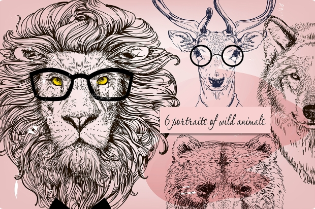 wild animals character design