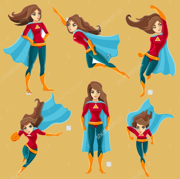 female superhero character design