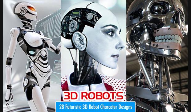 3d robot character design