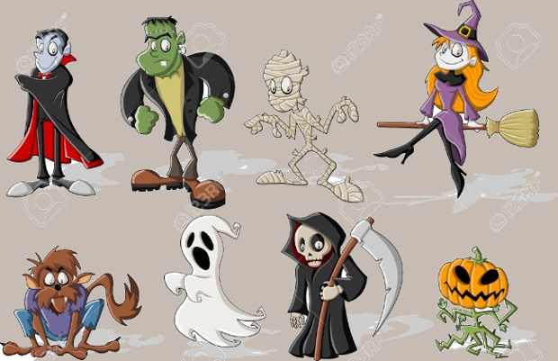 funny halloween cartoon character