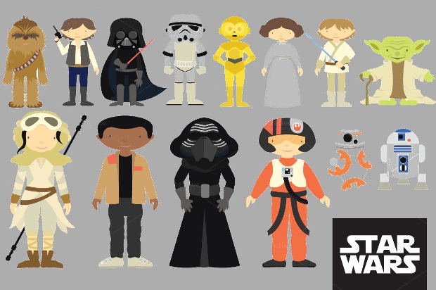 star wars character clipart design