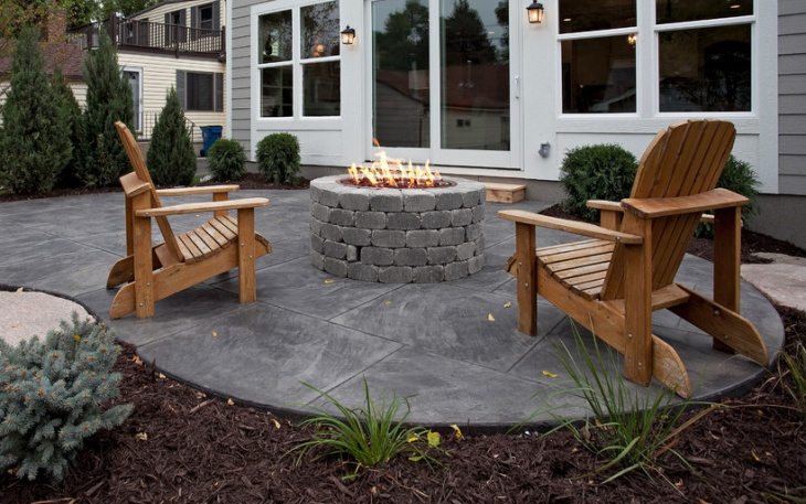 concrete block patio furniture