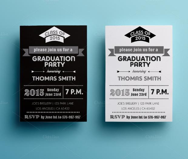 Graduation Photo Party Invitation