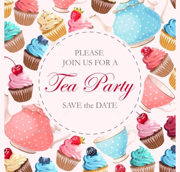 Vintage Tea Party Invitation