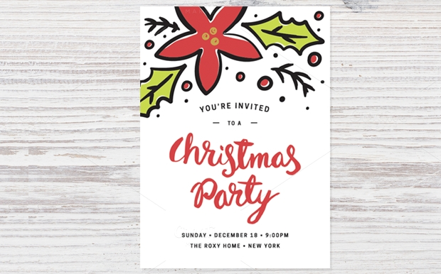 30 Party Invitations Printable PSD AI Vector EPS – Printable Christmas Party Invitation