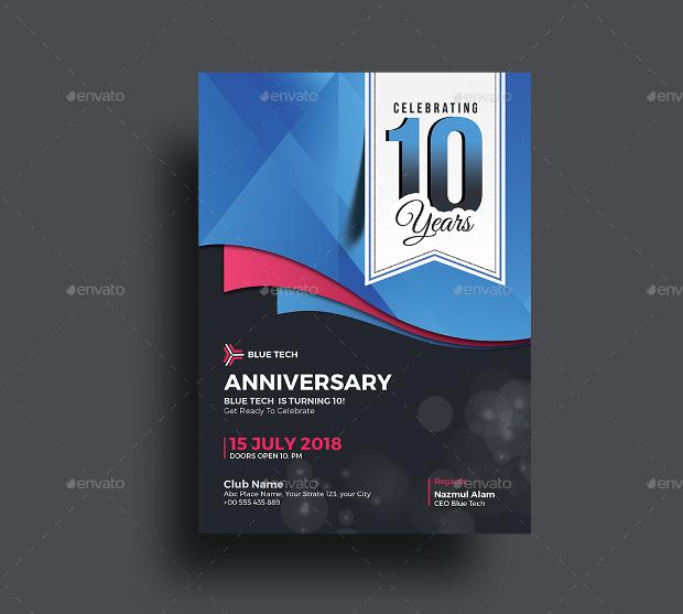 Company Anniversary Party Invitation