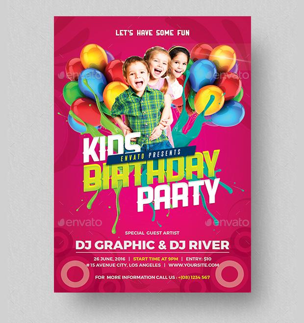 Kid's Birthday Party Invitation Design