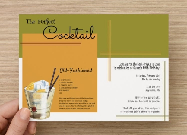 Vintage Cocktail Party Invitation