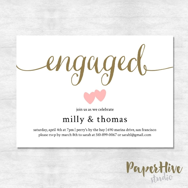 Blank Engagement Party Invitation