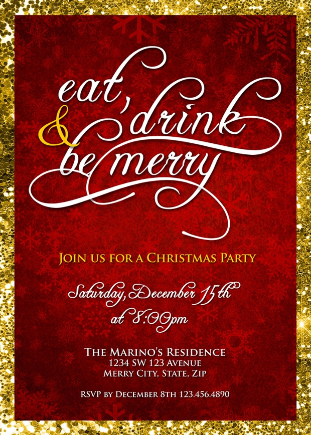 Corporate Christmas Party Invitation  Corporate Party Invitation Template