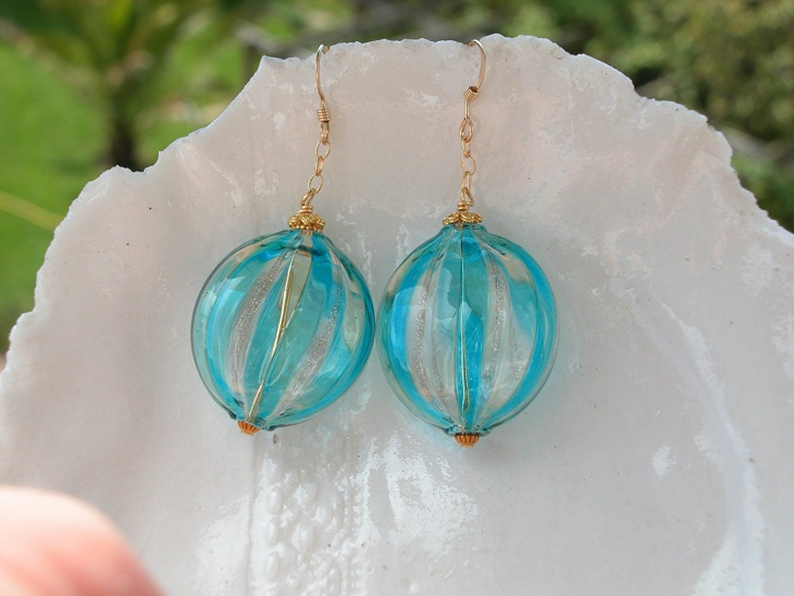 glass bead earrings design