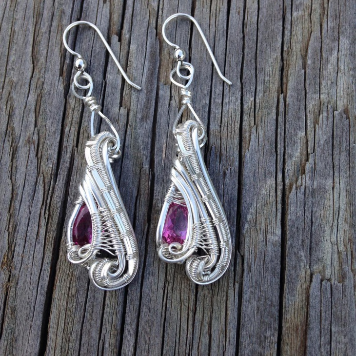 wire wrap earrings design