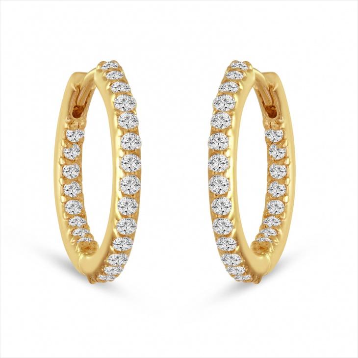 diamond hoop earrings design