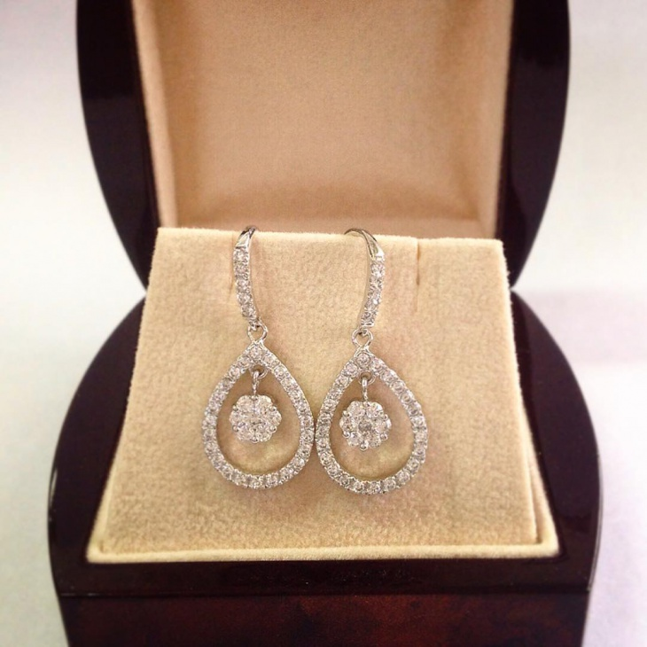 diamond drop earrings design