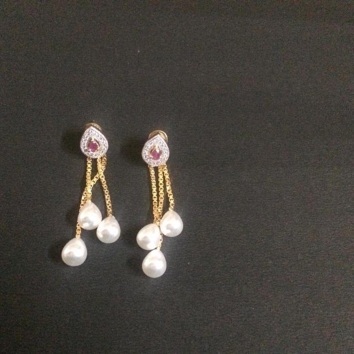 pearl drop earrings design