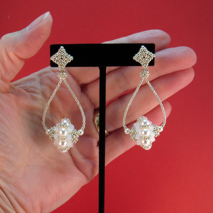 pearl bead earrings design