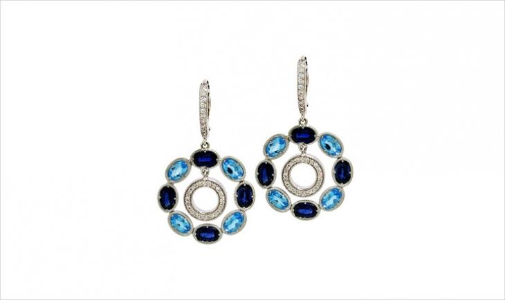 long diamond earrings design