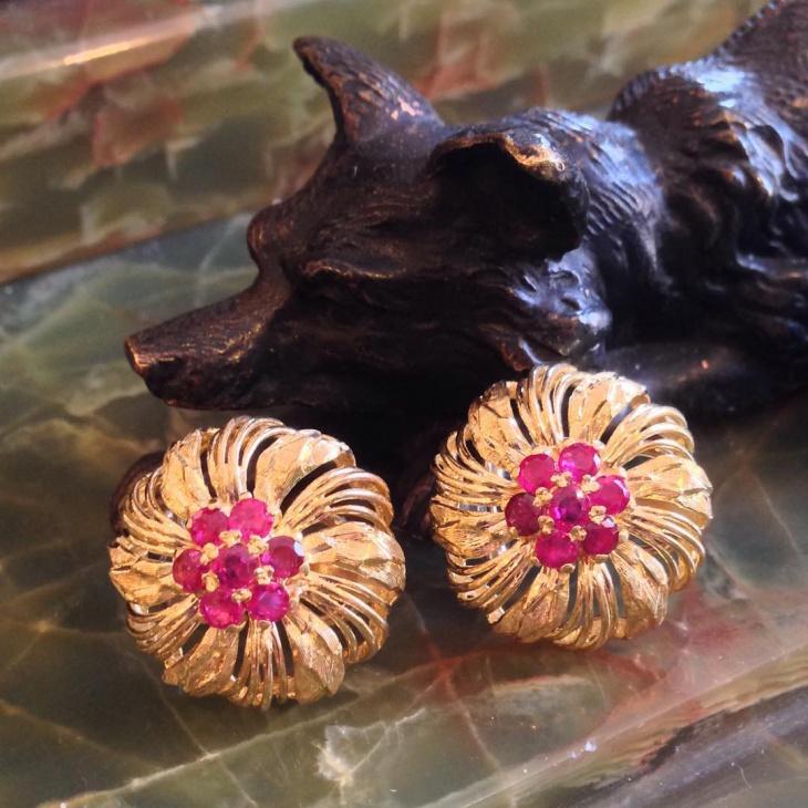 vintage ruby earrings design