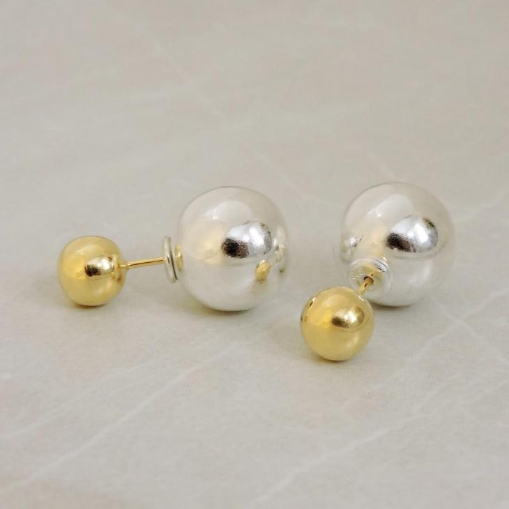 double stud earrings design