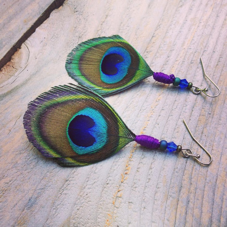 peacock feather earrings design