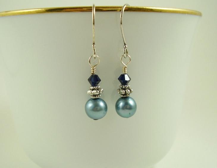 peacock pearl earrings design