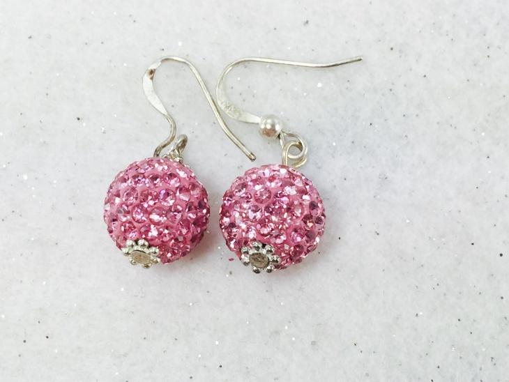 crystal ball earrings design