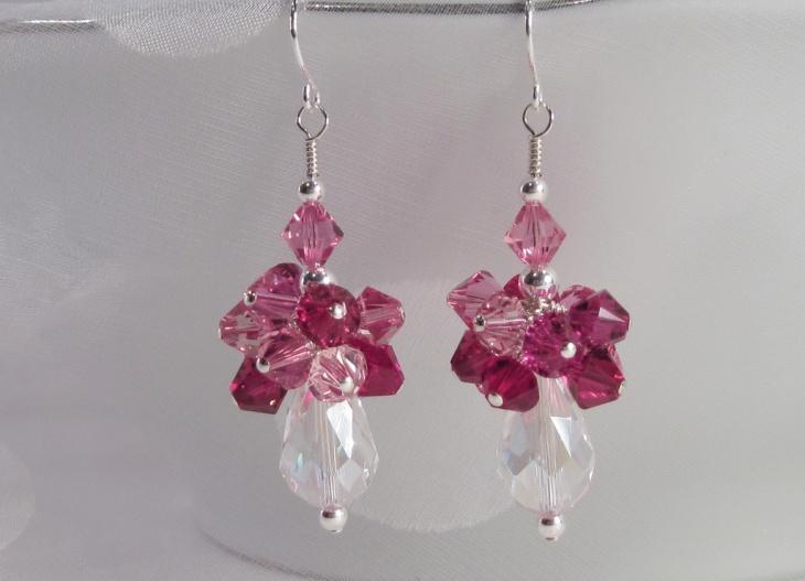 crystal cluster earrings design