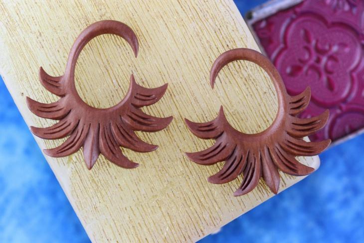 wood gauge earrings design