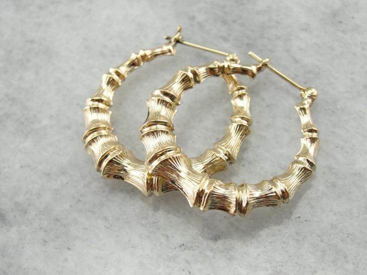 bamboo hoop earrings design