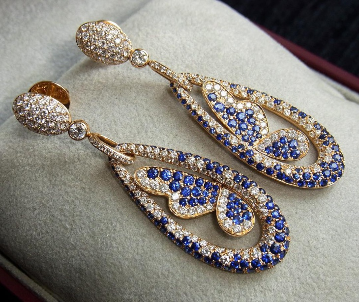 bridal diamond earrings design