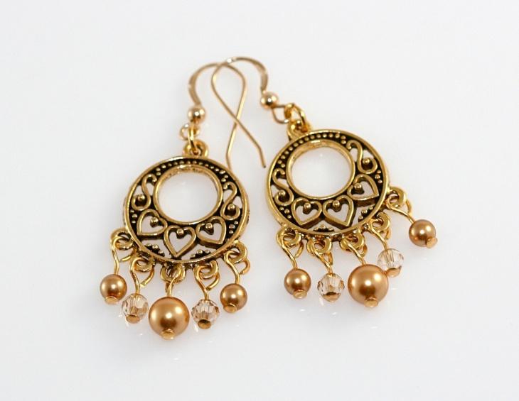 antique chandelier earrings design