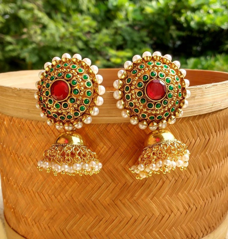 antique Jhumka earrings design