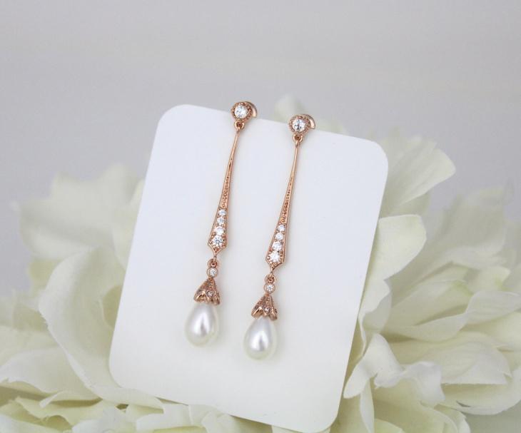 Rose Gold earrings design