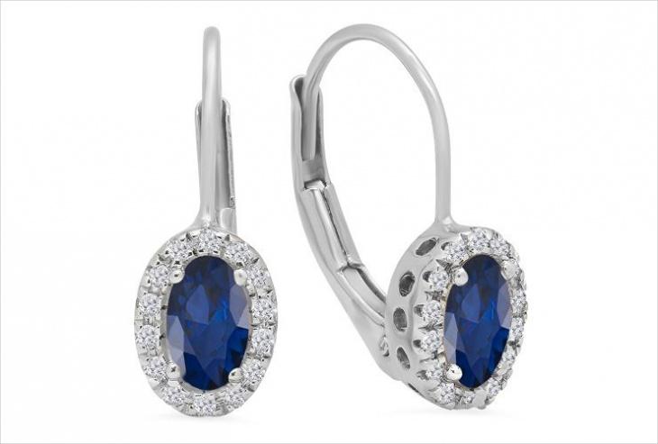 white gold earrings design