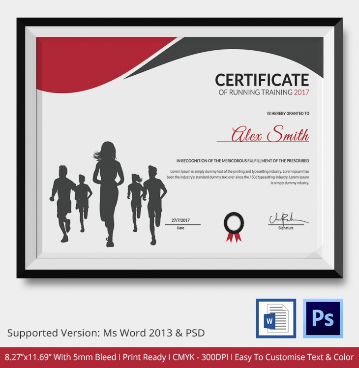 Running certificates templates free 28 images cross for Cross country certificate templates free