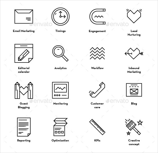 Inbound Marketing Icons
