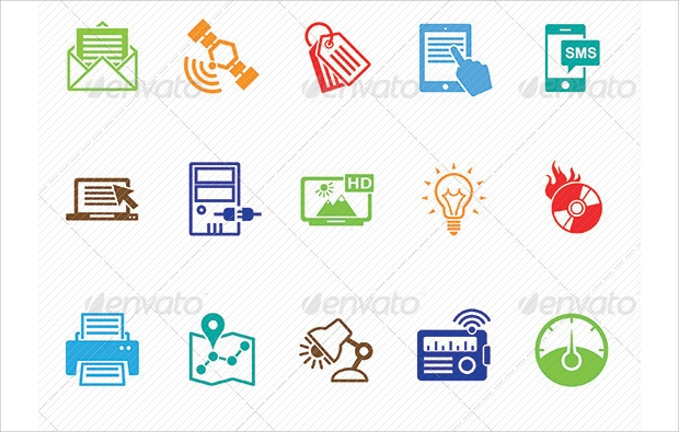 Clean and Modern Marketing Icons